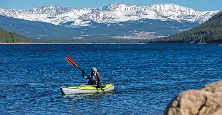 Paddling a Lake in Colorado